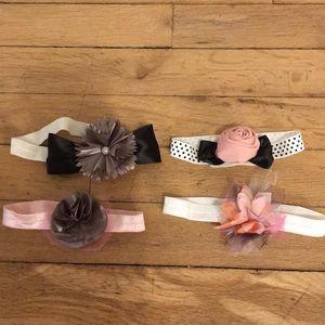 Other - Homemade newborn girl baby headbands